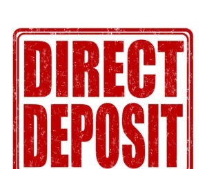 Direct deposit stamp