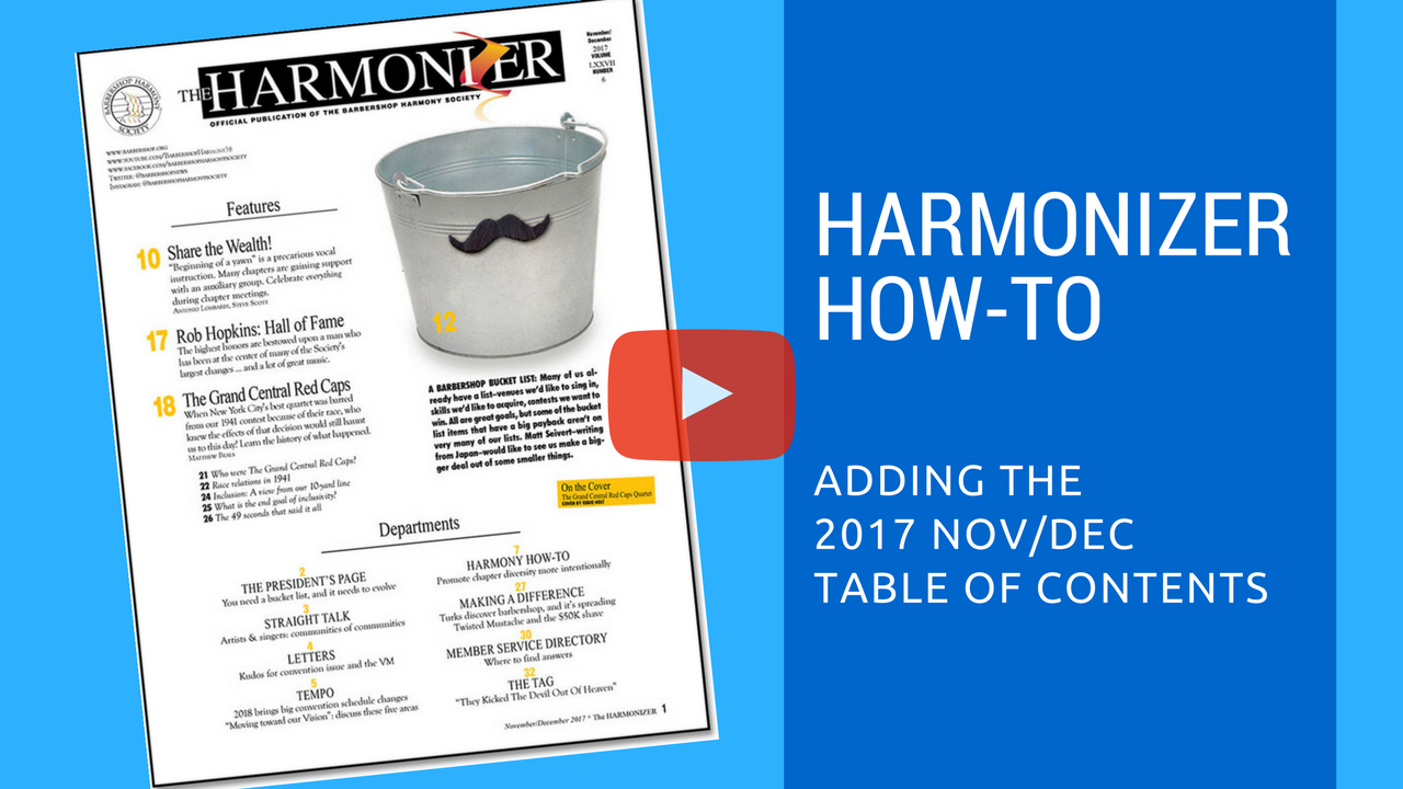 Harmonizer How-to video