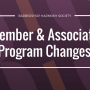 BHS announces changes to Membership and Associate Programs